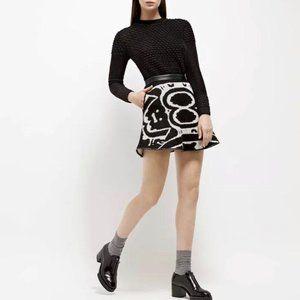 Ohlin/D Alpaca Abstract Graphic Print Mini Skirt